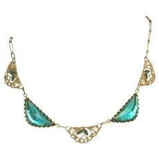 Vauxhall Glass & Enamel Art Deco Vintage Choker Necklace