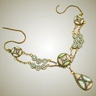 Antique Micro Mosaic Bib with Drop Necklace, Tiny Tesserae
