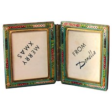 Micro Mosaic Vintage Double Picture Frame