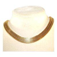Coro Pegasus Vintage Cleopatra Collar Necklace, c.1939
