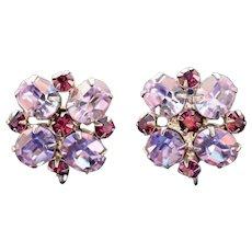 Vintage Vogue Color Change Stones Designer Signed Earrings