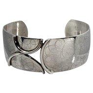Modernist Sterling Silver Cuff Bracelet ~ Birks / Burkhardt ~ 1960s