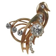 Whimsical Bird Figural ~ Vintage Brooch