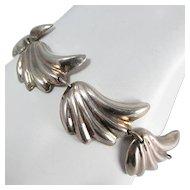 TAXCO Sterling Bracelet ~ Stylized Wing Links