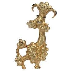 Avon French Poodle Brooch ~ Vintage Figural