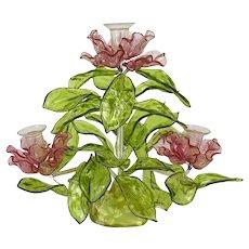 Mid-Century Lucite Floral Candelabra Centerpiece ~ Vintage 1960s