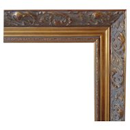 """LARGE Vintage Gold Picture Wood Frame w/ Rococo Swirls for Painting or Print Gilt 28"""" x 34"""" Opening"""