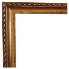"""1 of 2 Vintage Gilt Wood Picture Frames for Painting Print Photograph Photo 15 1/2"""" x 19 1/4"""" Opening"""