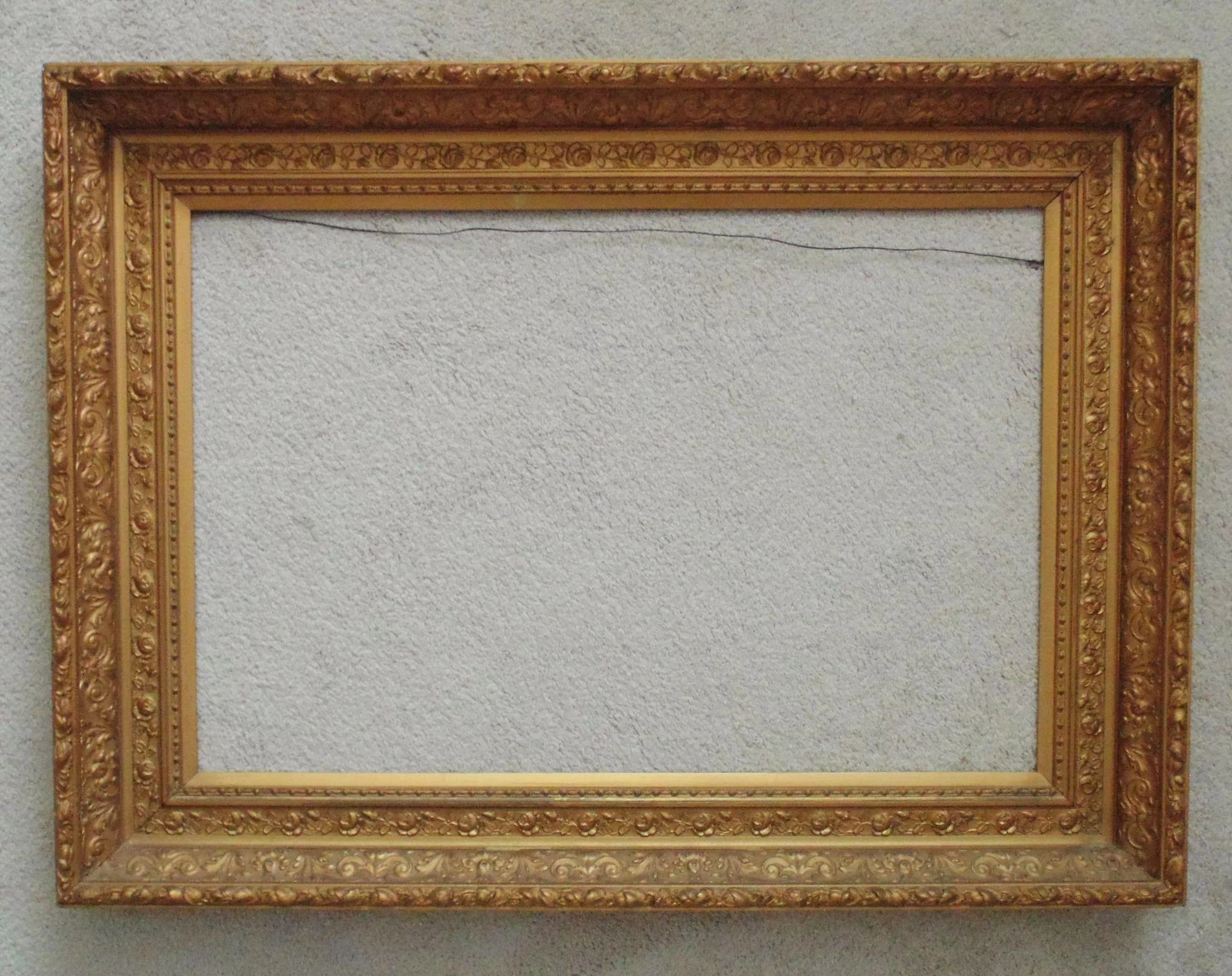 Large 19c antique picture frame gilt wood gesso victorian roses click to expand jeuxipadfo Image collections