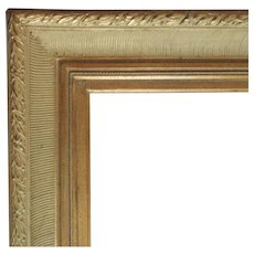 """LARGE Vintage Picture Frame Gilt Wood for Painting Mirror or Print 30 1/2"""" x 40"""" Opening"""