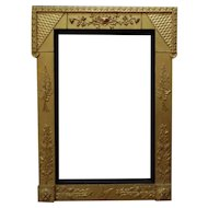 "LARGE 19c Victorian Picture Frame Gilt Wood & Gesso Aesthetic Eastlake for Painting Mirror or Print Antique c. 1870-80 Butterfly Flowers Floral  16 1/2"" x 25 1/2"" Opening"