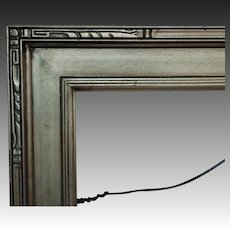 "Vintage Arts & Crafts Style Picture Frame Silver Wood 18"" x 24"" Opening Mission Bungalow for Painting Print Mirror"
