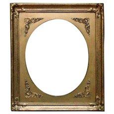 19th c.  Picture Frame Gilt Wood & Gesso Victorian Art Nouveau for Antique Painting Photograph or Print