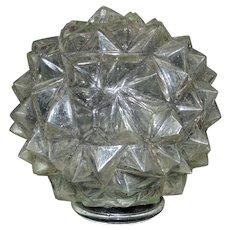 3 Art Deco Lamp Shades Clear Glass