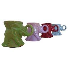 Set of 4 Vintage Frankoma Elephant GOP Republican Mugs 1981 1983 1984 1986