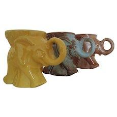 Set of 3 Vintage Frankoma Elephant GOP Republican Mugs 1975 1978 1979