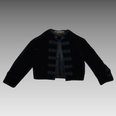 1920s Best & Co. Child's Black Velvet Jacket New York Vintage