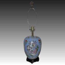 Vintage Chinese Motif Table Lamp Asian