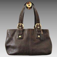 COACH Chocolate Brown Leather Purse Handbag Pocketbook