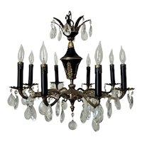 Fabulous French Louis XVI Revival Chandelier Gilt Bronze 8 Lights Empire