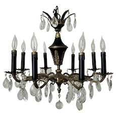 Fabulous French Louis XVI Revival Chandelier Gilt Bronze 8 Lights