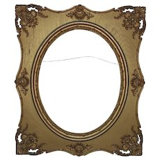 """19th c. Ornate Victorian Picture Frame Gilt Wood & Gesso 16"""" x 20"""" Opening for Painting or Print (Frame No. 1)"""