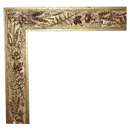 EXQUISITE Picture Frame Antique Victorian Gilt Wood & Gesso for Painting Print or Mirror c. 1880
