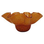 LARGE Vintage Modern Vetri Art Glass Bowl Centerpiece Italian Italy Mid Century Murano Venetian