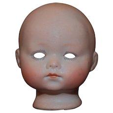 19th c. Porcelain Bisque Doll Head  German Antique