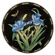 Antique Chinese Export Porcelain Bowl w/ Butterflies & Orchids Asian