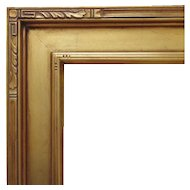 """Arts & Crafts Style Gilt Picture Frame 16"""" x 20"""" Opening Mission Bungalow for Painting or Print"""