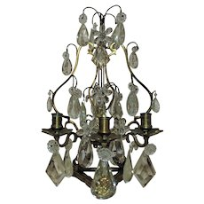 Antique French Bronze Candelabra Girandole Candle Holder