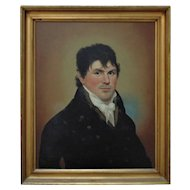 Antique Sea Captain William Champlin Portrait Painting Oil on Canvas School Of Goya c. 1800 w/ Provenance Nautical Gentleman