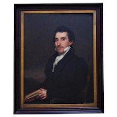 19th c. Portrait Oil Painting Gentleman Man Antique Victorian