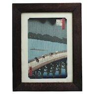 Utagawa Hiroshige Japanese Woodblock Print Sudden Shower at Atake Asian