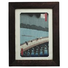 Utagawa Hiroshige Japanese Woodblock Print Sudden Shower at Atake Asian