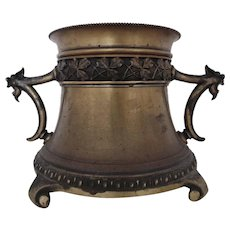 19th c. Bradley & Hubbard Oil Kerosene Lamp Base B & H Antique