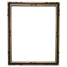 "Vintage Art Deco Picture Frame Carved Wood 15"" x 12"" Opening for Print or Painting"