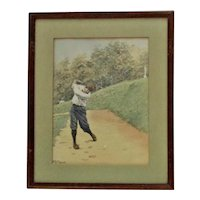 A. B. Frost Golf Print Golfing Golfer