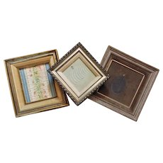 Lot of 3 Antique Wood Picture Frames for Miniature Painting or Portrait