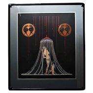 RARE Erte Helen of Troy Embossed Serigraph HC 13/30 Signed Art Deco Nude