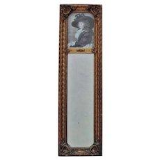 19th c. French Victorian Trumeau Mirror Antique Gilt Wood & Gesso Rococo
