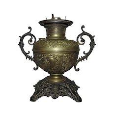19th c. Victorian Bradley & Hubbard Kerosene Lamp Antique B & H