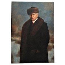 Antique Portrait Painting Man Gentleman Oil on Canvas Signed Emil Pollak-Ottendorff