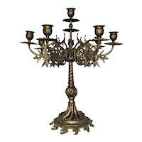 Antique Brass Candelabra 8 Lights