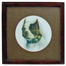 Antique Portrait Print of a Dog