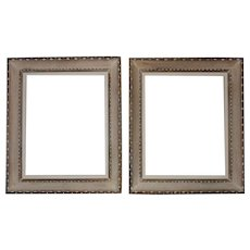 "1 or 2 Notched Wood Picture Frames Mid Century Modern for 16"" x 20"" Opening for Painting or Print"