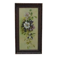 Antique Still Life Painting Floral Flowers Oil on Canvas