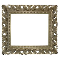 "Vintage Italian Picture Frame Gilt Wood & Gesso Rococo Style 21 1/4"" x 18"" Opening"