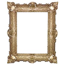 "Vintage Italian Gold Picture Frame Rococo Style 12"" x 16"" Opening"